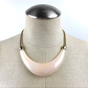 Peachy Marbled Statement Necklace